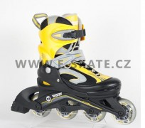 Kolečkové brusle dětské Fasze Minor 72 80A Black Yellow  8a93d22129