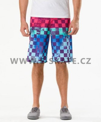 Plavky dětské Vans Off The Wall Boardshort - Blue Fade Scan Check SP13