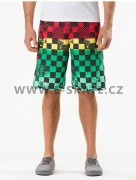 Plavky pánské Vans Off The Wall Boardshort - Rasta Scan Check SP13