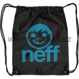Neff Cinch sack Backpack Black Cyan W13